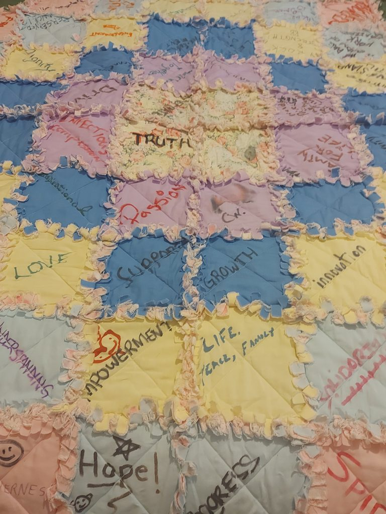 Quilt made by TTOA members